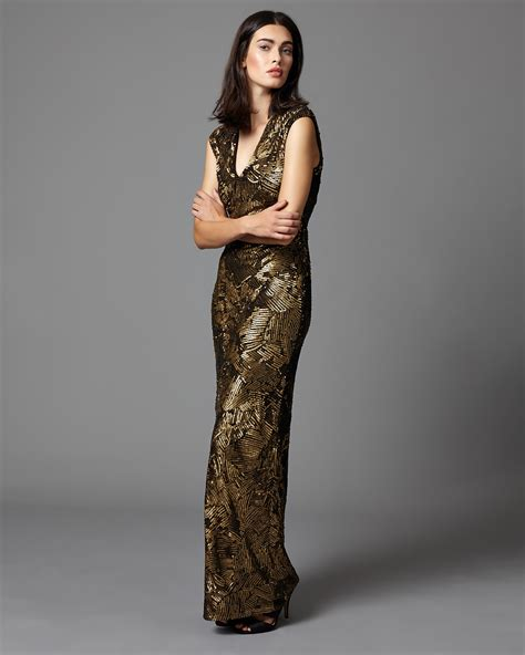 Alexi Dress alexi sequin length dress bronze phase eight