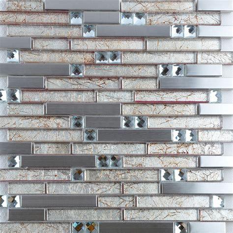 metallic kitchen backsplash metallic tile backsplash 304 stainless steel glass mosaic tiles modern