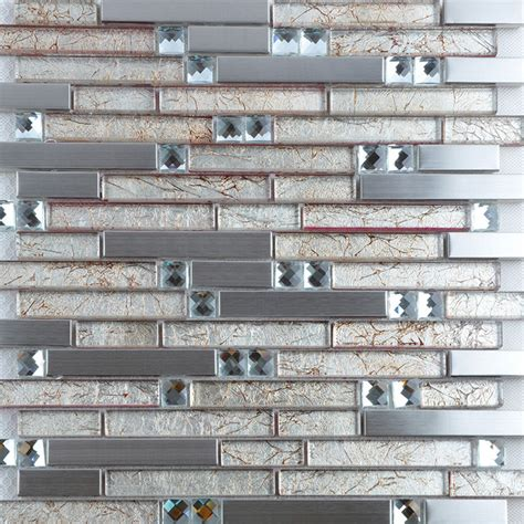 glass and metal tile backsplash metallic tile backsplash 304 stainless steel glass