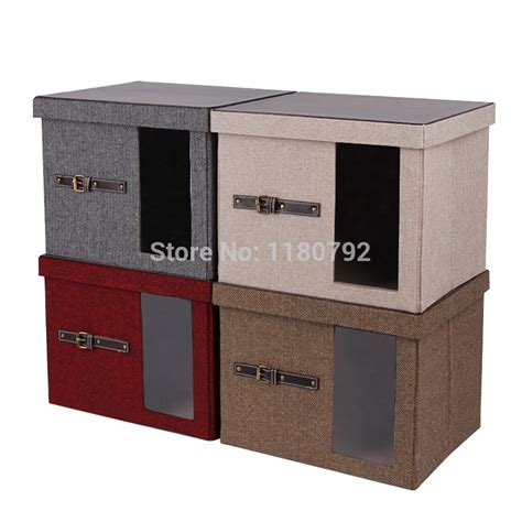 Promo Storage Box 2 Pintu Foldable Cloth Organizer Bamboo C Qu 91f P rowling 4 colors collapsible foldable storage bins box