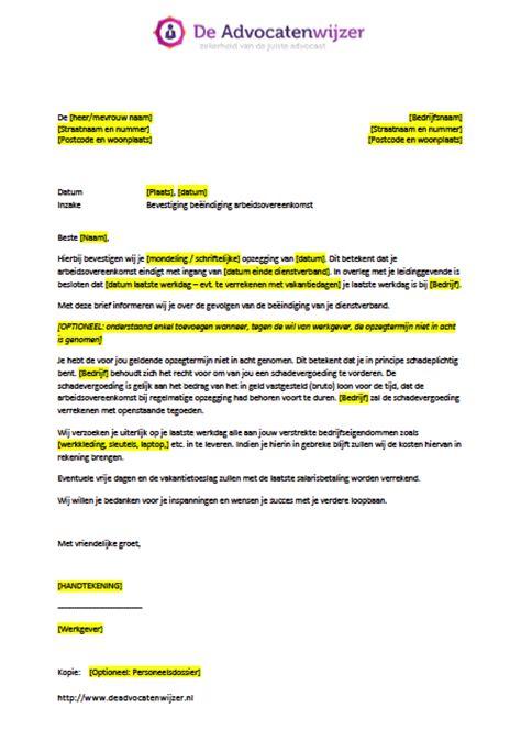 brief opstellen salarisverhoging voorbeeldbrief bevestiging ontslag gratis de advocatenwijzer
