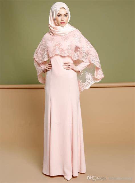 Design Dress Bridesmaid Muslimah | 2017 new design muslim long sleeve maxi dress islamic lace