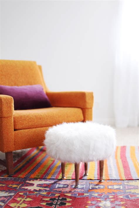 Dining Room Decorating Ideas On A Budget make your own faux fur footstool a beautiful mess