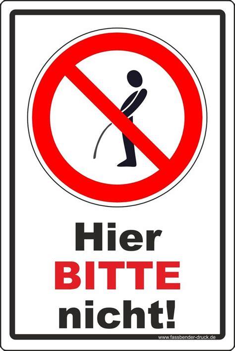 Keine Werbung Aufkleber Verboten by 20x30cm Pinkeln Pissen Urinieren Keine Toilette Verboten
