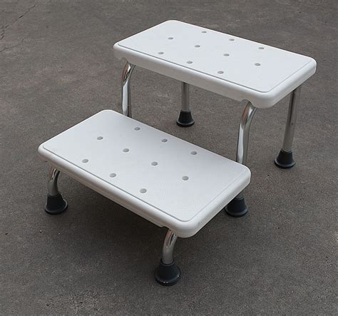 bathtub step stool elderly medical shower 2 step white stool 41x51x29cm heavy duty