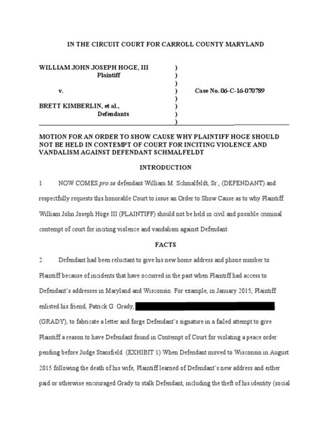 Wisconsin Circuit Court Criminal Records Bs Motion For Contempt Wisconsin Circuit Courts