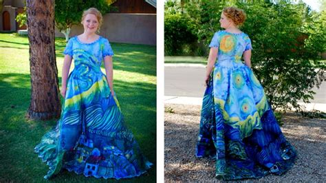 van gogh starry night prom dress julia reidhead diy 92 best images about inspired by van gogh on pinterest