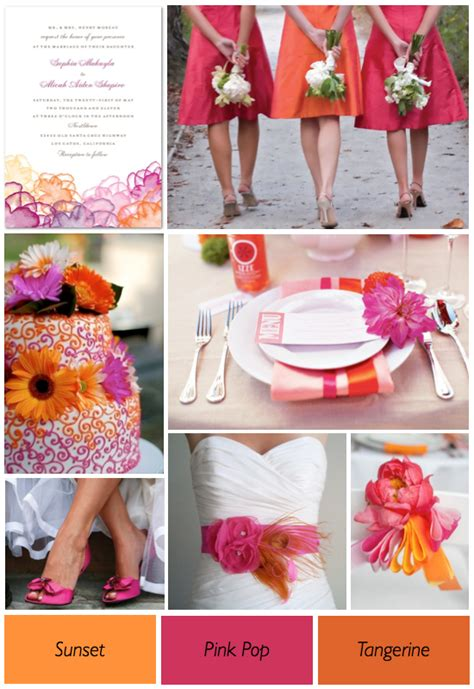 color theme ideas bright and colorful reception c e cunningham bridal