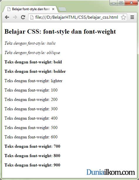 tutorial css untuk pemula pdf tutorial belajar css cara memiringkan dan menebalkan