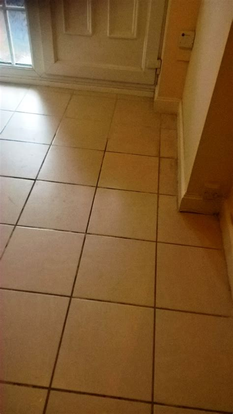 Cleaning Grout Lines Grout Lines Refreshed On A Ceramic Tiled Hallway In Cirencester Gloucester Tile Doctor