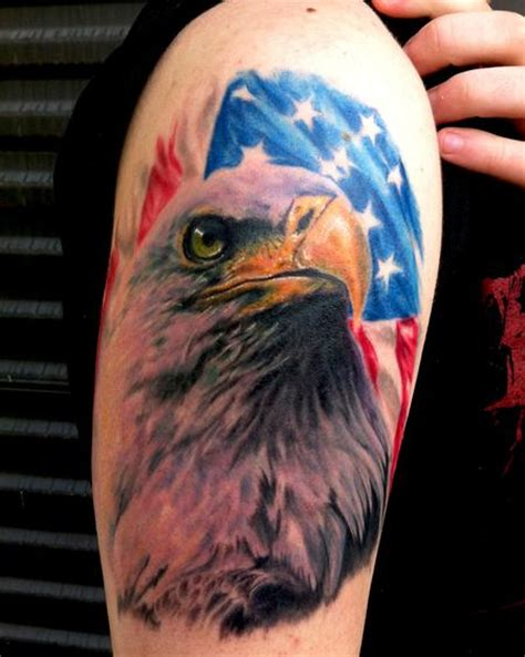 tattoo eagle flag american eagle tattoos