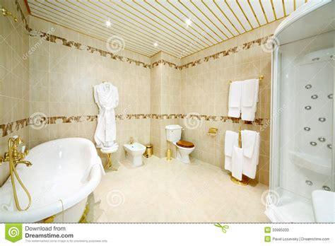 clean bathroom with bath shower cabin toilet and bidet - Bidet Z Prysznicem