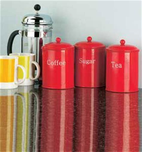 ceramic kitchen canister set red coffee tea sugar by red tea coffee sugar canisters set of 3 amazon co uk