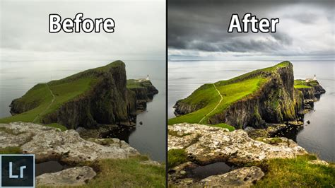 landscape photography editing in lightroom adobe