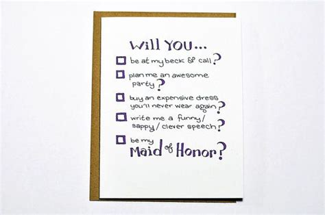 will you be my poems will you be my of honor wedding card
