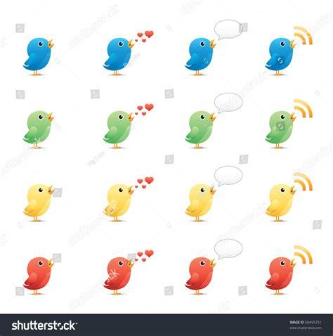 eps format edit tweeting birds icon set 19 glossy series vector eps 8