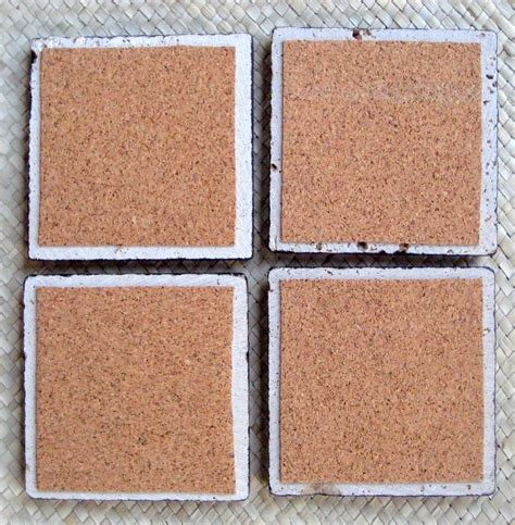 Handmade Tile Coasters - crafted tile coasters handmade poppy design set of 4