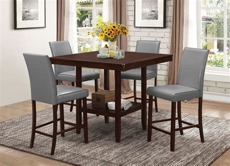 espresso dining room set fattori espresso counter height dining room set from