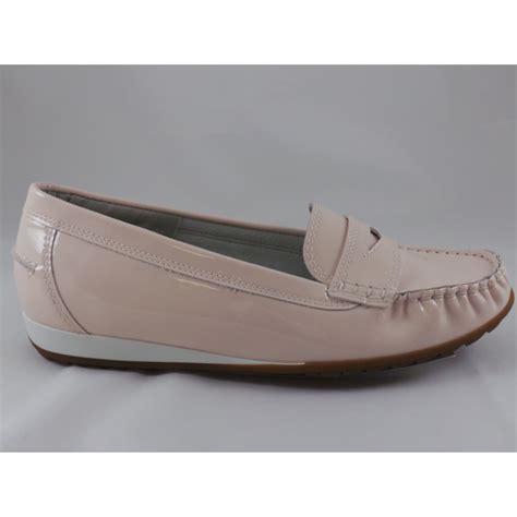 ara newport 12 30838 pale pink patent moccasin shoe ara
