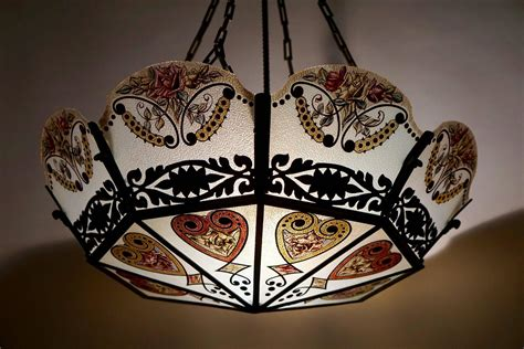 Stained Glass Chandeliers Stained Glass Chandelier For Sale At 1stdibs