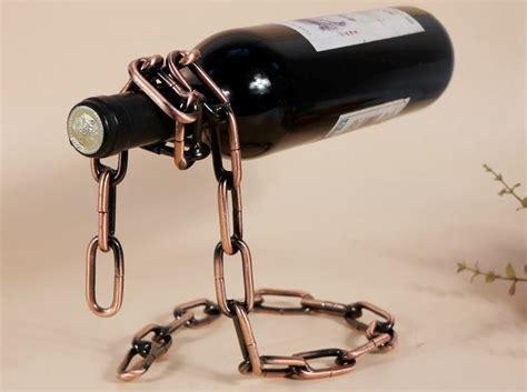 Rak Botol Wine rak rantai wine rak botol anggur unik dengan kesan