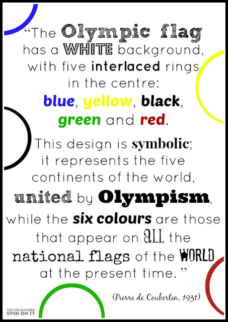 what are the five colors of the olympic rings olympic rings activities the educators spin on it
