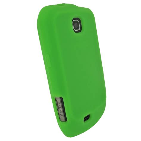 android mini phone cases igadgitz green silicone skin cover for samsung galaxy mini s5570 android smartphone mobile