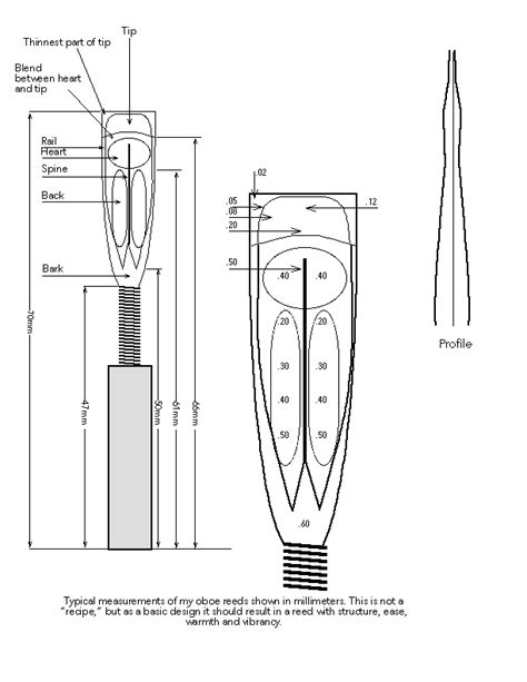 oboe diagram oboe reed diagram