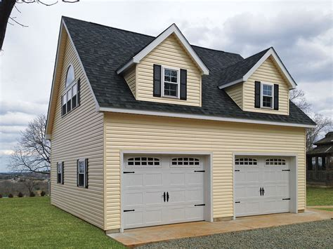 Amish 2 Car Garage by Built On Site Custom Amish Garages In Oneonta Ny Amish