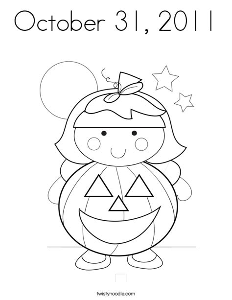 october 31 2011 coloring page twisty noodle