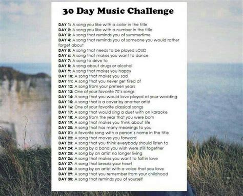 day songs 30 day challenge by the wavs