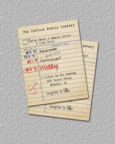 free library card invitation template items similar to library card invitation library wedding
