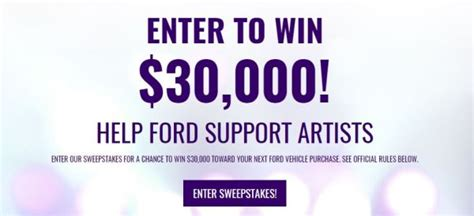 Global International Sweepstakes Company - byg ford sweepstakes 2017 2018 usascholarships com