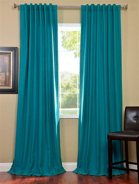 turquoise drapes curtains turquoise cotenza pole pocket curtain contemporary