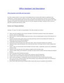 job description for office assistant resume - Office Assistant Job Description