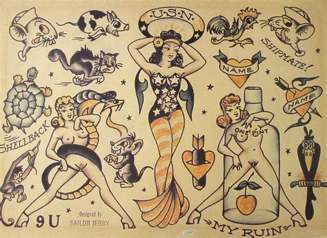 sailor jerry pin up tattoos sailor jerry pin up flash