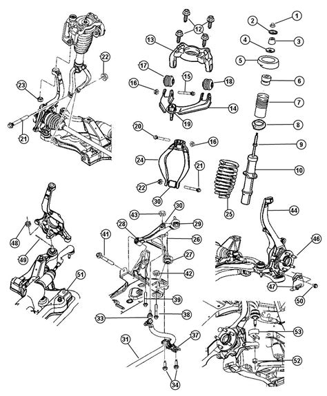 front suspension parts diagram 2006 chrysler sebring front suspension parts diagram