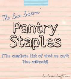 six pantry staples list baking cooking tips