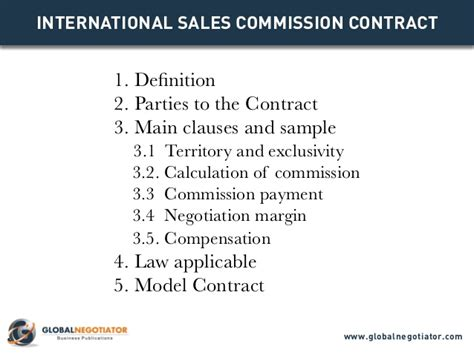 International Sales Commission Contract International Sales Commission Agreement Template