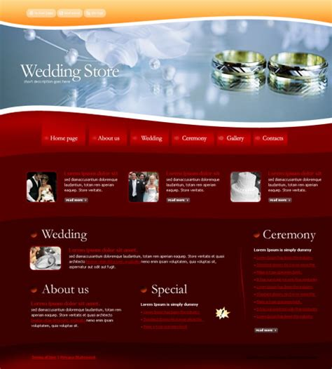 Css Templates For Jewellery Website | wedding css template 4255 jewelry website templates