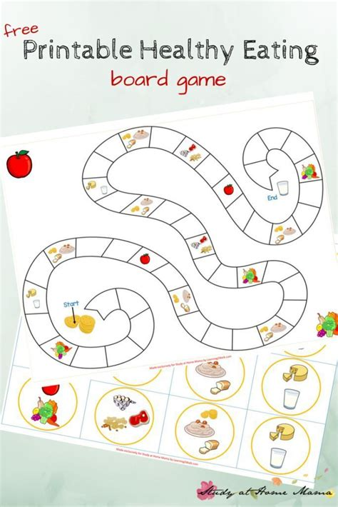 Playeat Boardgame Picknic kitchen healthy printable food groups free printable and