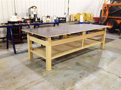 Metal Shop Table by Metal Fabrication Highmark Mechanical Inc
