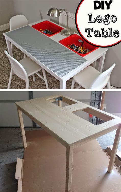 diy lego table and chairs creative lego storage ideas