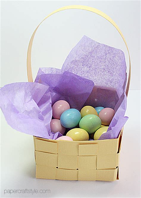Make An Easter Basket From Paper - mini woven paper easter basket tutorial