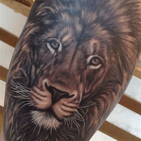 leon lion por patricia marquez tatuajes animales