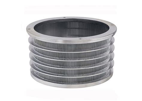 screen baskets outflow bar type stainless steel wedge wire pressure screen basket