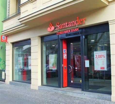 santander bank essen öffnungszeiten santander bank zweigniederlassung der santander consumer