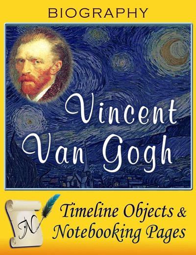 lara artes pizarra para la vincent gogh timeline objects and notebooking pages