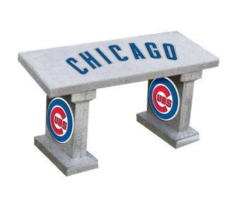 cubs bench chicago cubs full painted concrete bench onlinesports com