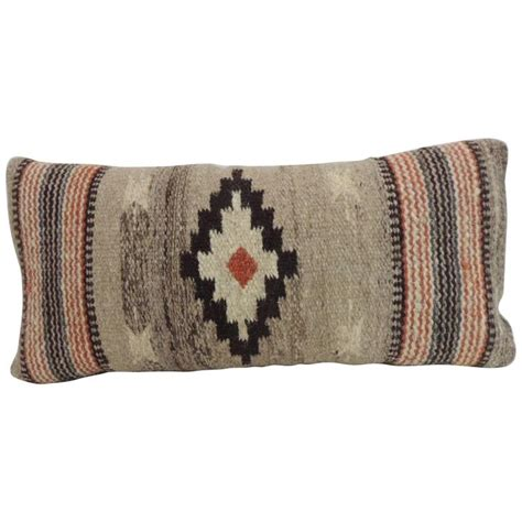 Lumber Pillow vintage southwestern woven wool decorative lumbar pillow for sale at 1stdibs